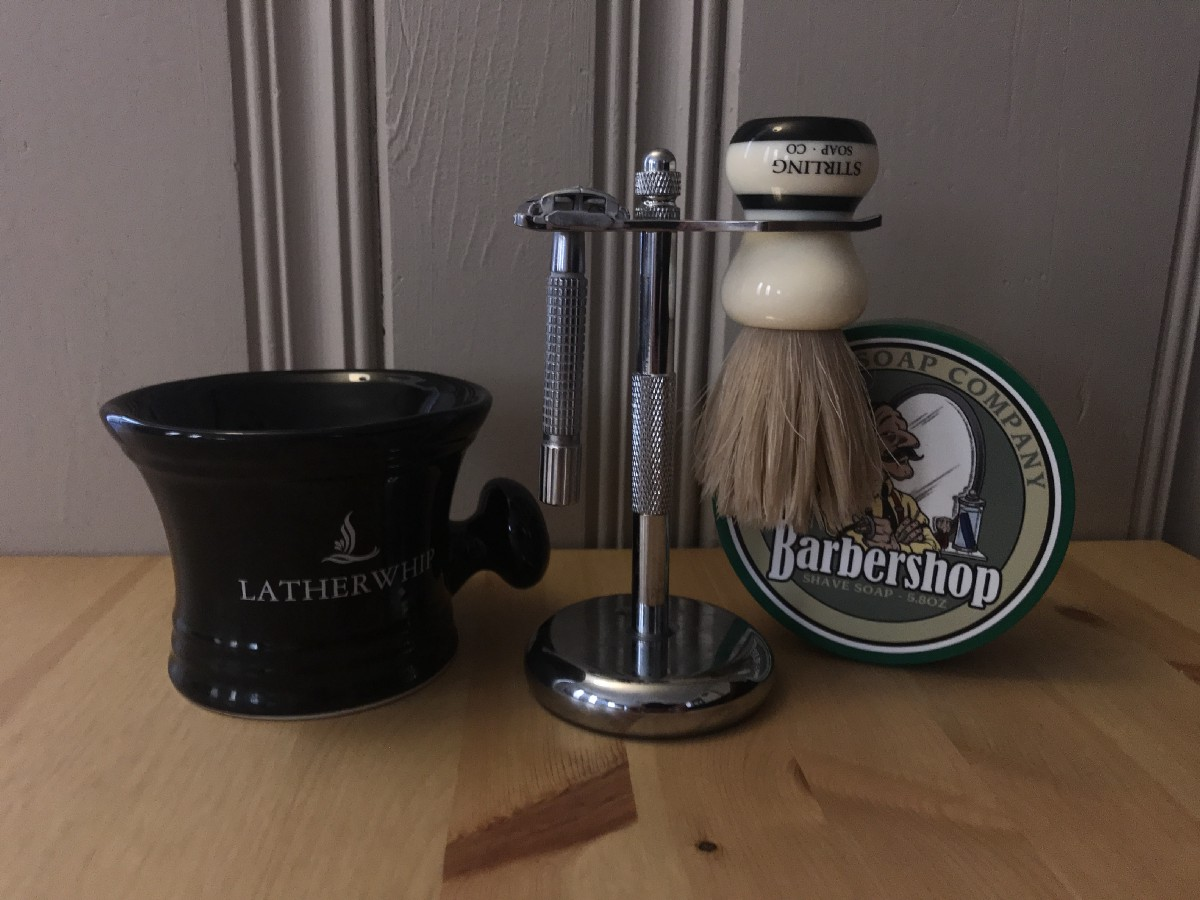 A real shaving set