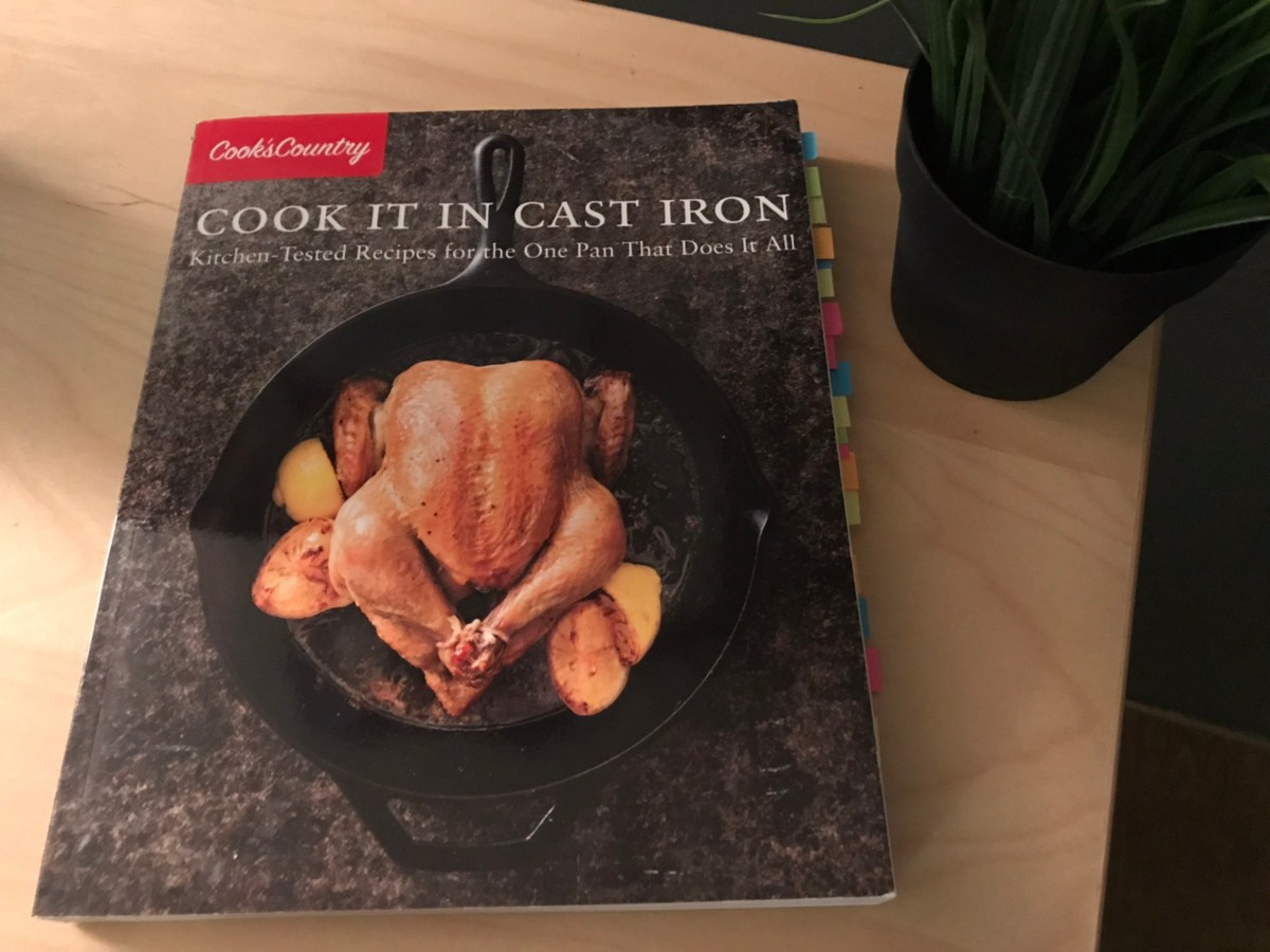 My only cook book, dog-eared with the recipes for food I like to eat.