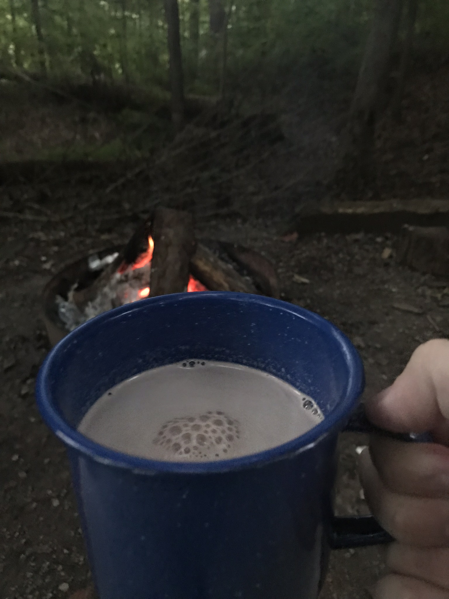 Hot chocolate and fire