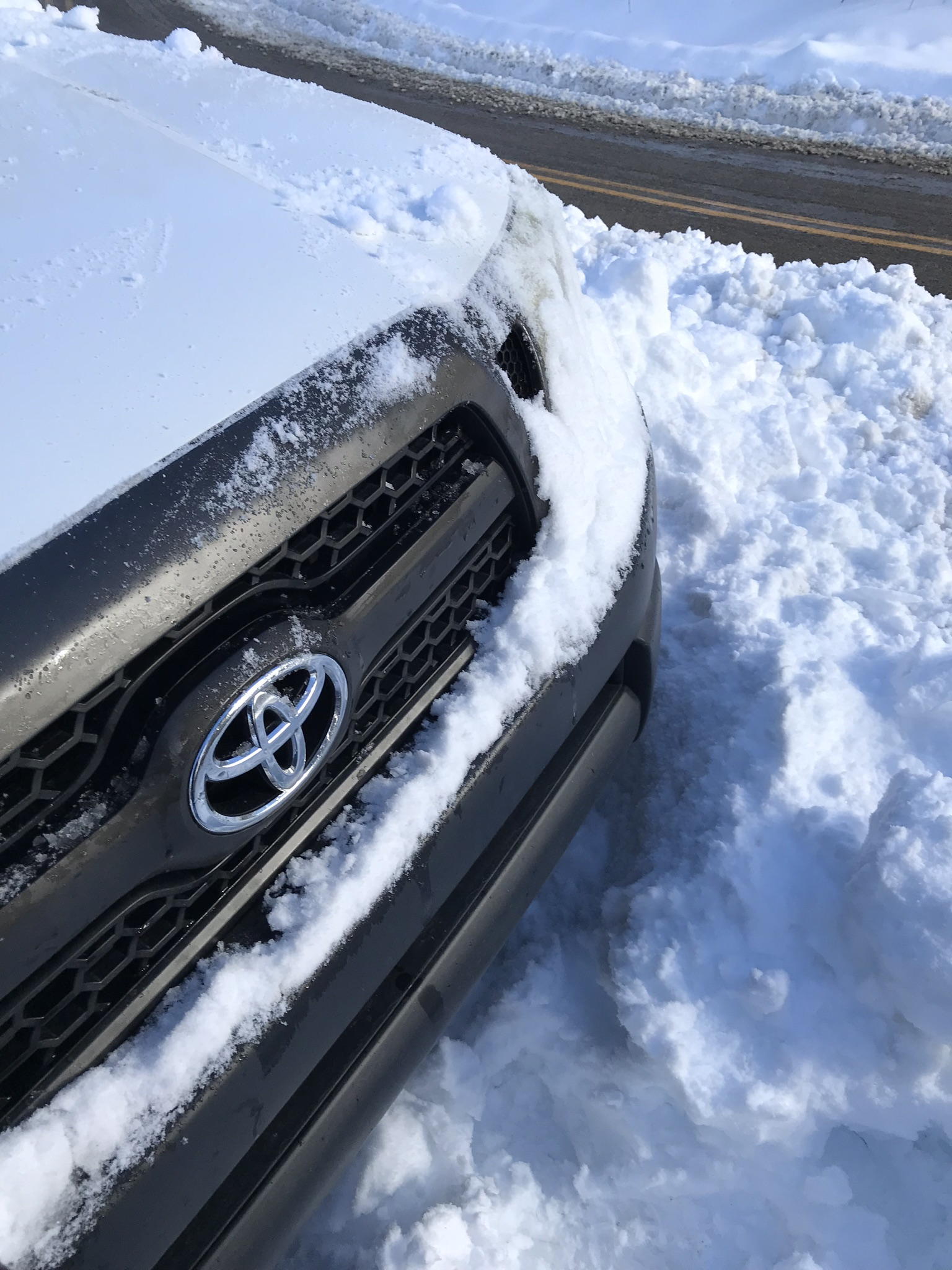 My pickup truck, stuck